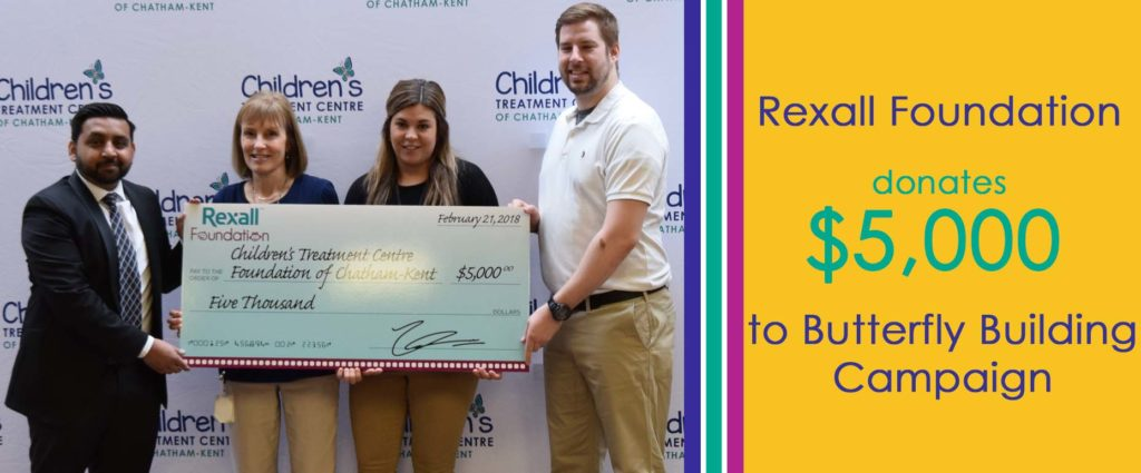 Rexall Foundation Donates $5,000 to Children's Treatment Centre's Adapted Recreation Program