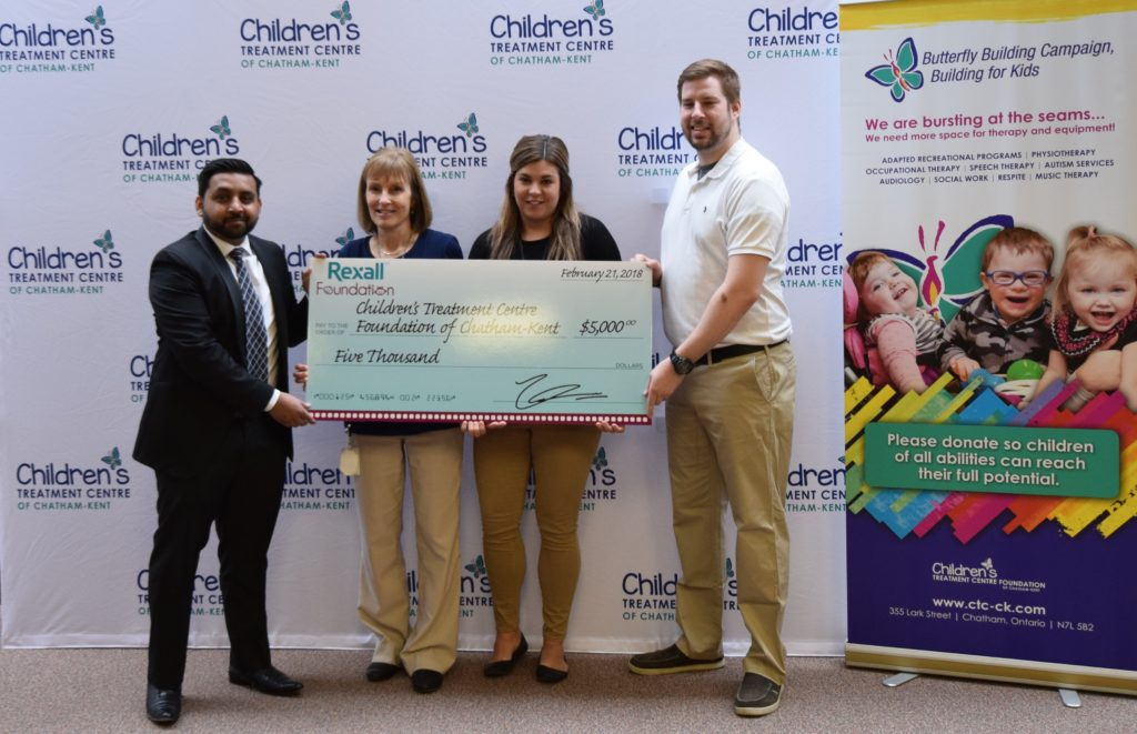 Rexall Foundation donates $5,000 to CTC Adapted Recreation