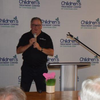 Photo of Mike Genge presenting