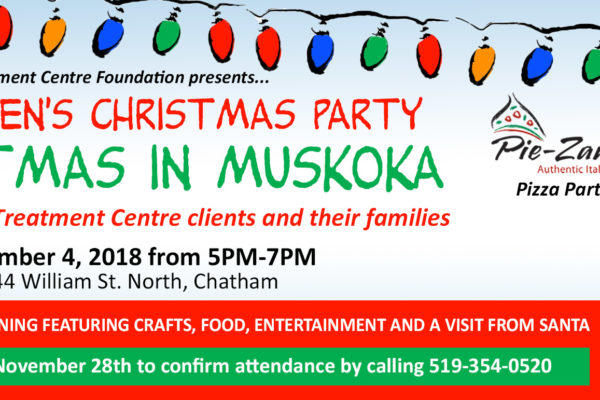 Children's Christmas Party at Christmas in Muskoka poster