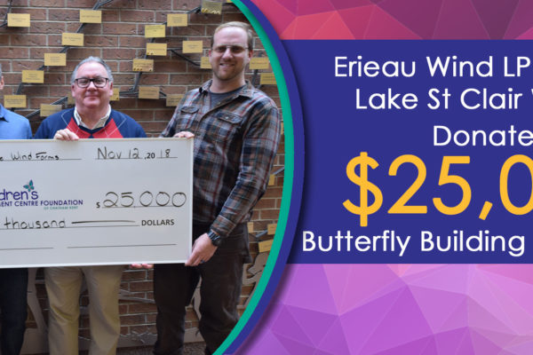 $25,000 Donation From Erieau Wind LP and East Lake St Clair Wind LP