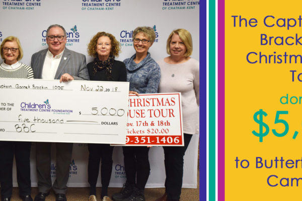 IODE Christmas House Tours cheque presentation of $5,000 towards the CTCF