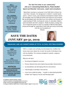 FASD Training Opportunity Jan. 30 and 31 2019